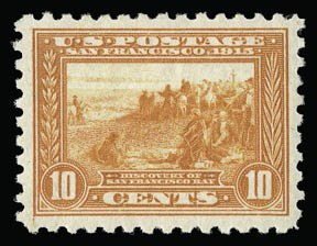 Sale Number 930, Lot Number 2480, 1913-15 Panama-Pacific Issue (Scott 397-404)10c Panama-Pacific, Perf 10 (404), 10c Panama-Pacific, Perf 10 (404)