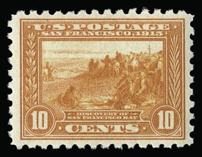 Sale Number 930, Lot Number 2482, 1913-15 Panama-Pacific Issue (Scott 397-404)10c Panama-Pacific, Perf 10 (404), 10c Panama-Pacific, Perf 10 (404)