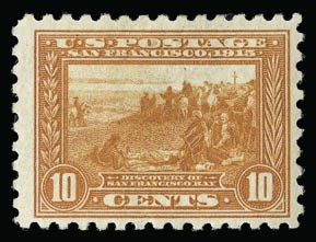 Sale Number 930, Lot Number 2483, 1913-15 Panama-Pacific Issue (Scott 397-404)10c Panama-Pacific, Perf 10 (404), 10c Panama-Pacific, Perf 10 (404)