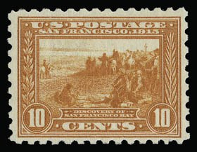 Sale Number 930, Lot Number 2484, 1913-15 Panama-Pacific Issue (Scott 397-404)10c Panama-Pacific, Perf 10 (404), 10c Panama-Pacific, Perf 10 (404)