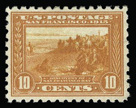Sale Number 930, Lot Number 2485, 1913-15 Panama-Pacific Issue (Scott 397-404)10c Panama-Pacific, Perf 10 (404), 10c Panama-Pacific, Perf 10 (404)