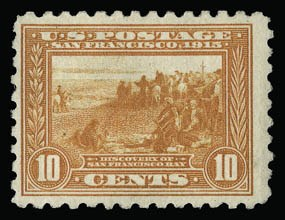 Sale Number 930, Lot Number 2486, 1913-15 Panama-Pacific Issue (Scott 397-404)10c Panama-Pacific, Perf 10 (404), 10c Panama-Pacific, Perf 10 (404)