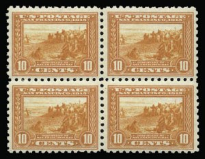 Sale Number 930, Lot Number 2487, 1913-15 Panama-Pacific Issue (Scott 397-404)10c Panama-Pacific, Perf 10 (404), 10c Panama-Pacific, Perf 10 (404)
