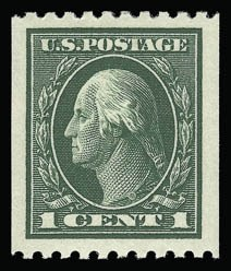 Sale Number 930, Lot Number 2527, 1913-15 Washington-Franklin Issues (Scott 424-461)1c Green, Coil (441), 1c Green, Coil (441)