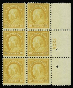 Sale Number 930, Lot Number 2569, 1916-17 Issues (Scott 462-480)10c Orange Yellow (472), 10c Orange Yellow (472)