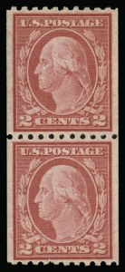 Sale Number 930, Lot Number 2583, 1917-19 Issues (Scott 481-524)2c Carmine, Ty. II, Coil (487), 2c Carmine, Ty. II, Coil (487)