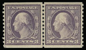 Sale Number 930, Lot Number 2586, 1917-19 Issues (Scott 481-524)3c Violet, Ty. I, Coil (493), 3c Violet, Ty. I, Coil (493)