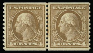 Sale Number 930, Lot Number 2588, 1917-19 Issues (Scott 481-524)4c Orange Brown, Coil (495), 4c Orange Brown, Coil (495)