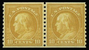 Sale Number 930, Lot Number 2589, 1917-19 Issues (Scott 481-524)10c Orange Yellow, Coil (497), 10c Orange Yellow, Coil (497)