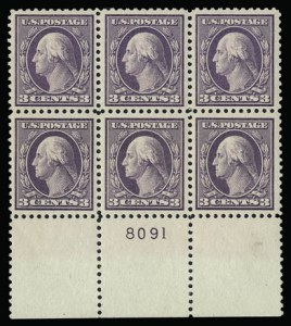 Sale Number 930, Lot Number 2598, 1917-19 Issues (Scott 481-524)3c Dark Violet, Ty. II (502), 3c Dark Violet, Ty. II (502)