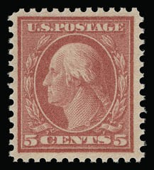 Sale Number 930, Lot Number 2602, 1917-19 Issues (Scott 481-524)5c Rose, Error (505), 5c Rose, Error (505)