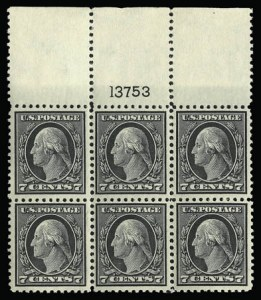 Sale Number 930, Lot Number 2610, 1917-19 Issues (Scott 481-524)7c Black (507), 7c Black (507)