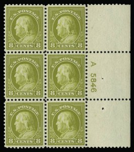 Sale Number 930, Lot Number 2612, 1917-19 Issues (Scott 481-524)8c Olive Bister (508), 8c Olive Bister (508)