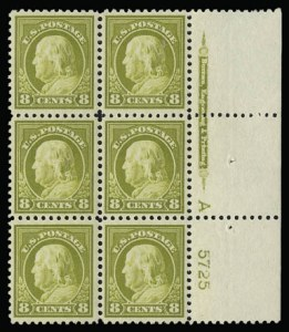 Sale Number 930, Lot Number 2613, 1917-19 Issues (Scott 481-524)8c Olive Bister (508), 8c Olive Bister (508)