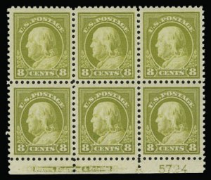Sale Number 930, Lot Number 2614, 1917-19 Issues (Scott 481-524)8c Olive Bister (508), 8c Olive Bister (508)