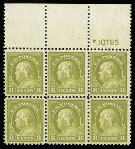 Sale Number 930, Lot Number 2615, 1917-19 Issues (Scott 481-524)8c Olive Bister (508), 8c Olive Bister (508)