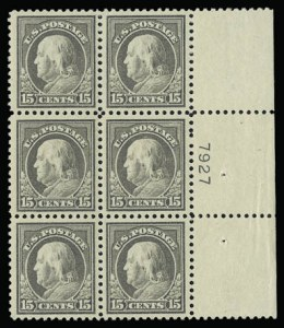 Sale Number 930, Lot Number 2616, 1917-19 Issues (Scott 481-524)15c Gray (514), 15c Gray (514)