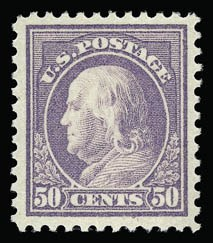 Sale Number 930, Lot Number 2621, 1917-19 Issues (Scott 481-524)50c Red Violet (517), 50c Red Violet (517)