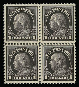 Sale Number 930, Lot Number 2623, 1917-19 Issues (Scott 481-524)$1.00 Violet Black (518 var), $1.00 Violet Black (518 var)