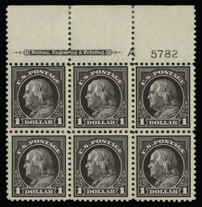Sale Number 930, Lot Number 2624, 1917-19 Issues (Scott 481-524)$1.00 Violet Brown (518), $1.00 Violet Brown (518)