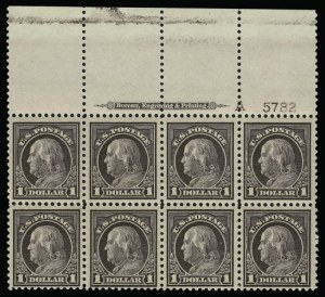 Sale Number 930, Lot Number 2625, 1917-19 Issues (Scott 481-524)$1.00 Violet Brown (518), $1.00 Violet Brown (518)