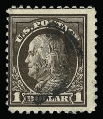 Sale Number 930, Lot Number 2626, 1917-19 Issues (Scott 481-524)$1.00 Deep Brown (518b), $1.00 Deep Brown (518b)