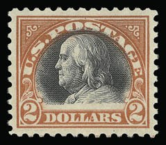 Sale Number 930, Lot Number 2632, 1917-19 Issues (Scott 481-524)$2.00 Orange Red & Black (523), $2.00 Orange Red & Black (523)