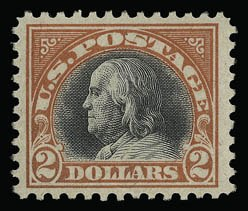 Sale Number 930, Lot Number 2633, 1917-19 Issues (Scott 481-524)$2.00 Orange Red & Black (523), $2.00 Orange Red & Black (523)
