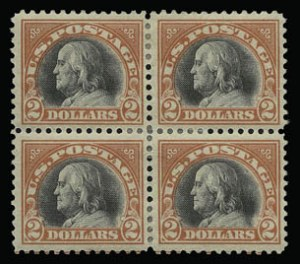Sale Number 930, Lot Number 2634, 1917-19 Issues (Scott 481-524)$2.00 Orange Red & Black (523), $2.00 Orange Red & Black (523)