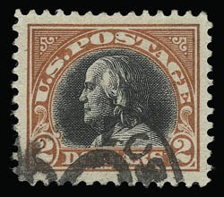 Sale Number 930, Lot Number 2635, 1917-19 Issues (Scott 481-524)$2.00 Orange Red & Black (523), $2.00 Orange Red & Black (523)