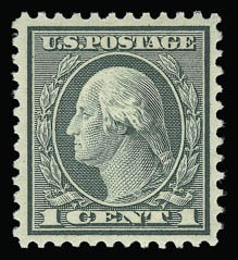 Sale Number 930, Lot Number 2653, 1919-20 Issues (Scott 537-550)1c Green, Rotary (545), 1c Green, Rotary (545)