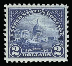 Sale Number 930, Lot Number 2671, 1922-29 Issues (Scott 551-621)$2.00 Deep Blue (572), $2.00 Deep Blue (572)