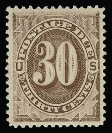 Sale Number 930, Lot Number 2778, Postage Due30c Red Brown (J20). Mint N.H, 30c Red Brown (J20). Mint N.H