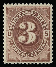 Sale Number 930, Lot Number 2781, Postage Due3c Bright Claret (J24), 3c Bright Claret (J24)