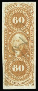 Sale Number 930, Lot Number 2907, Revenues60c Inland Exchange, Imperforate (R64a), 60c Inland Exchange, Imperforate (R64a)