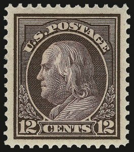 Sale Number 932, Lot Number 108, 1912-14 Issue (Scott 414 to 423)12c Deep Claret Brown (417 var), 12c Deep Claret Brown (417 var)
