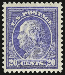 Sale Number 932, Lot Number 110, 1912-14 Issue (Scott 414 to 423)20c Ultramarine (419), 20c Ultramarine (419)