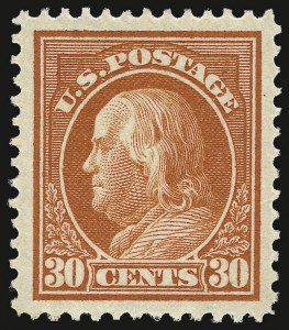 Sale Number 932, Lot Number 111, 1912-14 Issue (Scott 414 to 423)30c Orange Red (420), 30c Orange Red (420)
