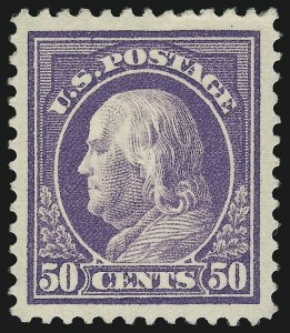 Sale Number 932, Lot Number 112, 1912-14 Issue (Scott 414 to 423)50c Violet (421), 50c Violet (421)
