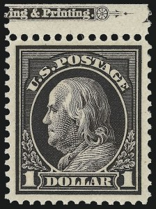 Sale Number 932, Lot Number 114, 1912-14 Issue (Scott 414 to 423)$1.00 Violet Brown (423), $1.00 Violet Brown (423)