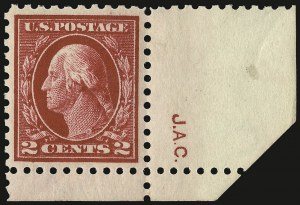 Sale Number 932, Lot Number 115, 1913-15 Issue (Scott 425 to 440)2c Rose Red, Ty. I (425), 2c Rose Red, Ty. I (425)