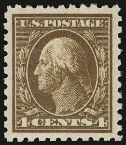Sale Number 932, Lot Number 117, 1913-15 Issue (Scott 425 to 440)4c Brown (427), 4c Brown (427)