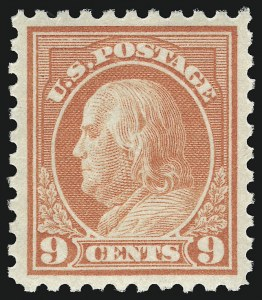 Sale Number 932, Lot Number 123, 1913-15 Issue (Scott 425 to 440)9c Salmon Red (432), 9c Salmon Red (432)