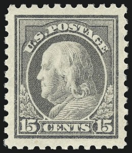 Sale Number 932, Lot Number 130, 1913-15 Issue (Scott 425 to 440)15c Gray (437), 15c Gray (437)