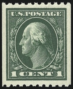 Sale Number 932, Lot Number 136, 1914 Coil Issue (Scott 441 to 447)1c Green, Coil (441), 1c Green, Coil (441)