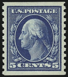 Sale Number 932, Lot Number 155, 1914 Coil Issue (Scott 441 to 447)5c Blue, Coil (447), 5c Blue, Coil (447)