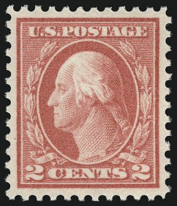 Sale Number 932, Lot Number 190, 1915 Single-Line Wmk. Perf 11 Issue (Scott 461)2c Pale Carmine Red, Ty. I (461), 2c Pale Carmine Red, Ty. I (461)