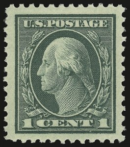 Sale Number 932, Lot Number 239, 1917-19 Issue (Scott 498 to 518)1c Green (498), 1c Green (498)