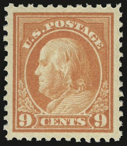 Sale Number 932, Lot Number 251, 1917-19 Issue (Scott 498 to 518)9c Salmon Red (509), 9c Salmon Red (509)