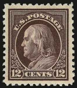 Sale Number 932, Lot Number 253, 1917-19 Issue (Scott 498 to 518)12c Claret Brown (512), 12c Claret Brown (512)